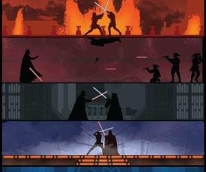 star wars, battle, and darth vader image