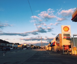 aesthetic, clouds, and town image