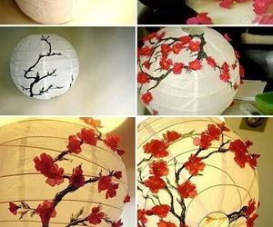 diy, lamp, and flowers image