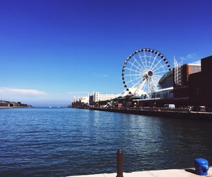 navy pier and chicago image