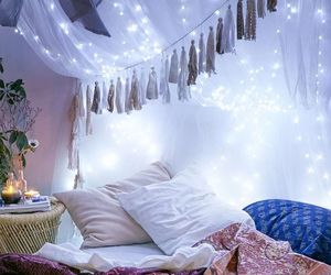 lights, room decor, and space inspired image