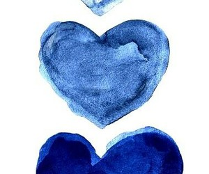 blue and hearts image