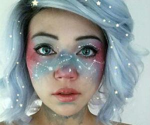 makeup, Halloween, and stars image