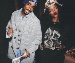 rihanna, tupac, and 2pac image
