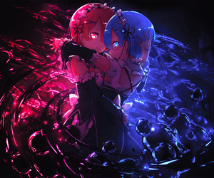 wallpaper, re:zero, and rem ram image
