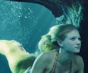 mermaid, beautiful, and beauty image