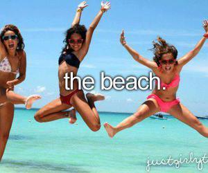 beach, summer, and fun image