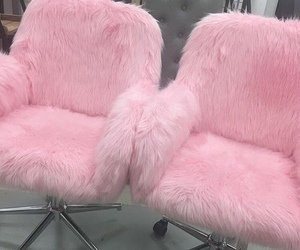 pink, aesthetic, and chair image