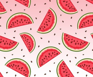 wallpaper, watermelon, and red image