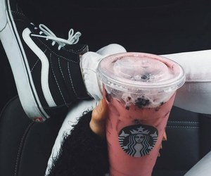 starbucks, shoes, and vans image