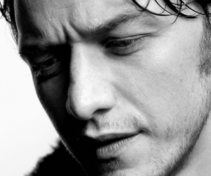 actor, black and white, and james mcavoy image