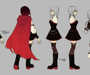 ruby red and rwby image