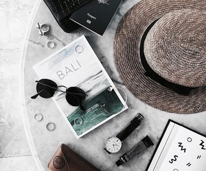 summer, bali, and hat image
