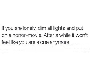 alone, funny, and horror image