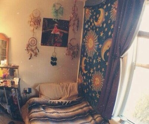 room, hippie, and bedroom image