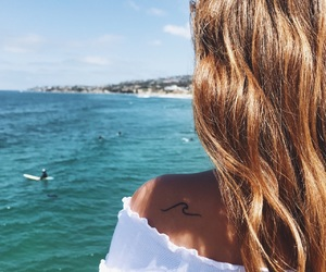 beach, brunette, and california image