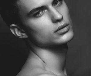 guy, jawline, and skin image
