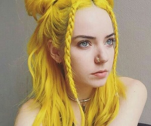 yellow, hair, and yellow hair image