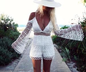 beach, chic, and lace image