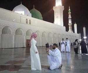 muslim, couple, and hijab image