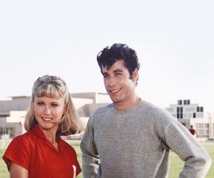 grease, John Travolta, and couple image