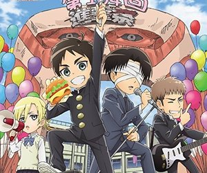 anime, aot, and attack on titan jr high image