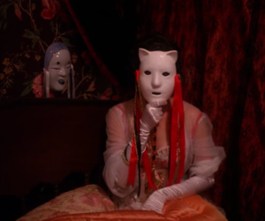Audrey Horne, david lynch, and mask image