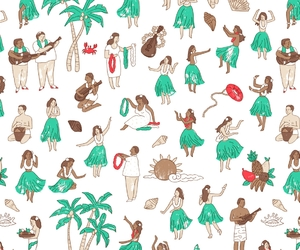 hawaii, illustration, and threadless image