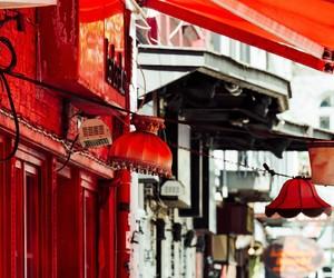 city street, red, and hamburg image