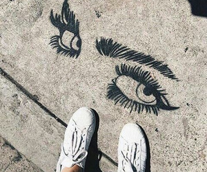 eyes, art, and shoes image