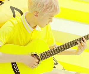 baby, yellow, and korean song image