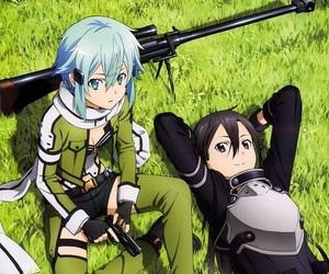 kirito, anime, and sword art online image