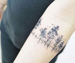 forest and tattoo image