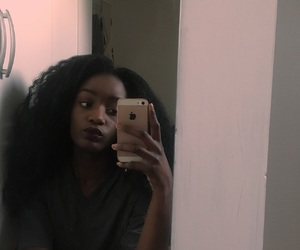 black girl, dark skin, and skinny image