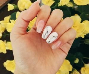 nails, gel nails, and marble nails image
