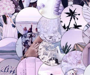 aesthetic, collages, and lavender image