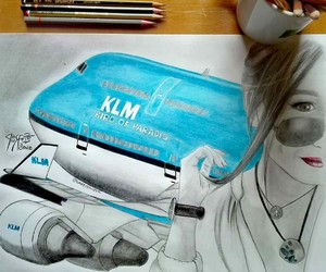 art, boeing, and drawing image