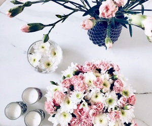 bouquet, candle, and flower image