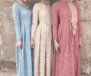 dresses, fashion, and hijab image