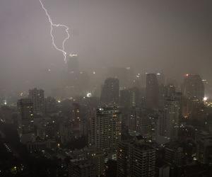 skyline and storm image