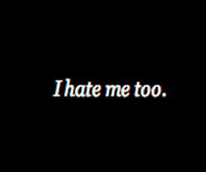 hate, sad, and me image