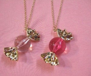 pink, candy, and necklace image