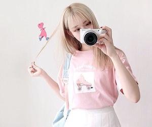 pink, girl, and ulzzang image