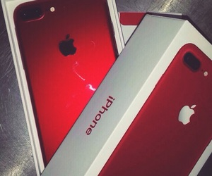 phone, iphone, and red image