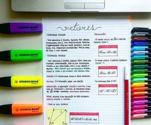 colorful, focus, and homework image