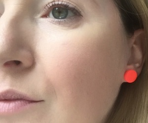 statement jewellery, orange earrings, and clay earrings image