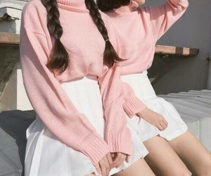 pink, asian, and clothes image