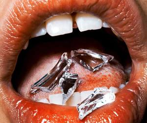 art, glass, and mouth image