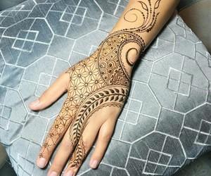 belleza, henna, and moda image
