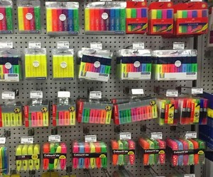 colorful, pens, and school image